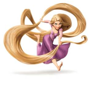 Rapunzel gets tangled in Tangled