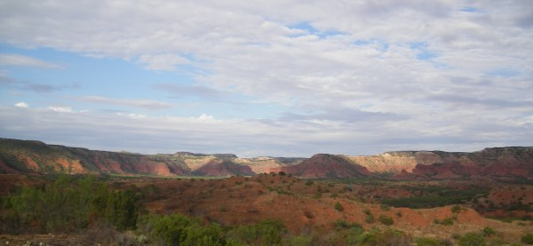 Looking west across Caprock Canyon