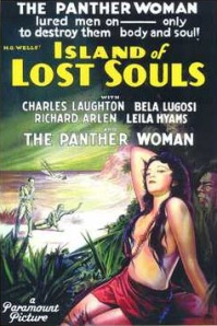 The garish movie poster for Island of Lost Souls