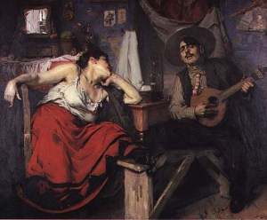 Fado, painting by Jose Malhoa