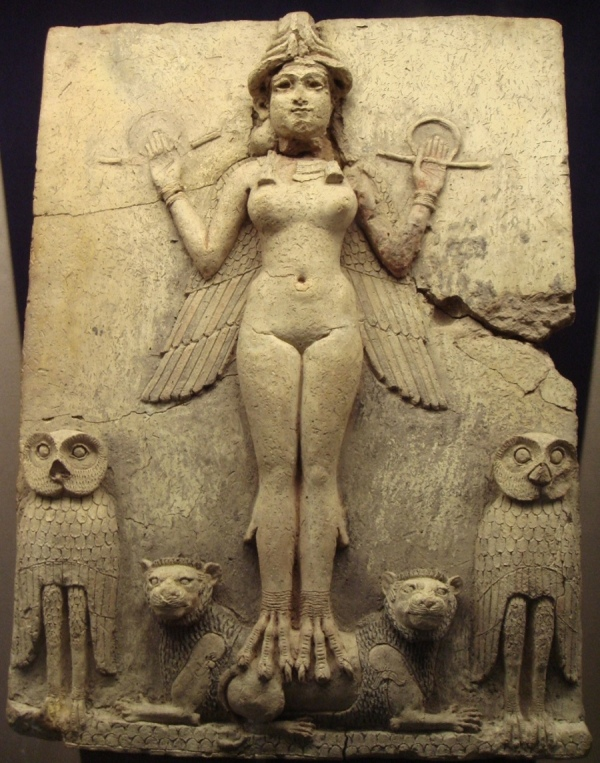 Tablet depicting Sumerian Goddess Inanna