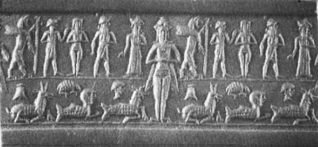 Another depiction of Inanna