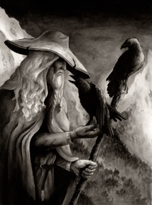 Odin is the male god I will worship in my journey through Norse Wicca.