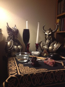 Nordic Wiccan Altar